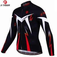 X-tiger maillot cyclisme hiver manches longues vélo vêtements thermique polaire Roupa De Ciclismo Invierno Hombre vtt vélo vêtements