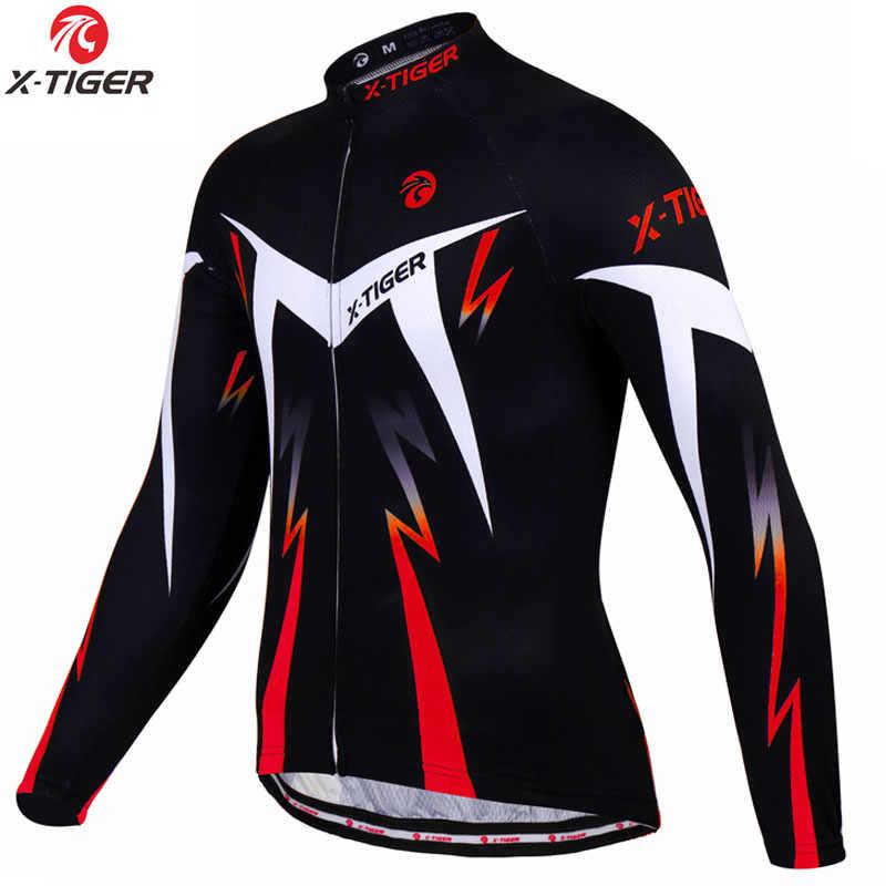 X-Tiger jazda na rowerze Jersey zima z długim rękawem odzież rowerowa termiczny polar Roupa De Ciclismo Invierno Hombre rower mtb odzież