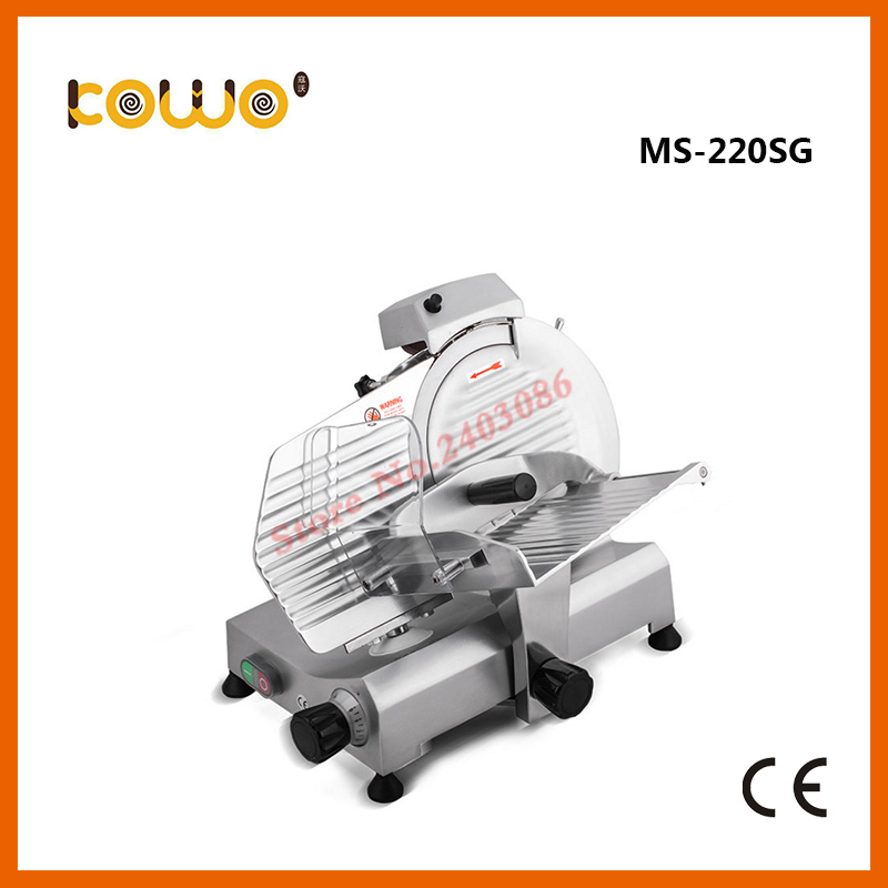 industrial semi automatic deluxe electric food processor frozen meat slicer cutting machine with 220mm blade blade for meat cutting machine food processors with blade knife for commercial or home use qw