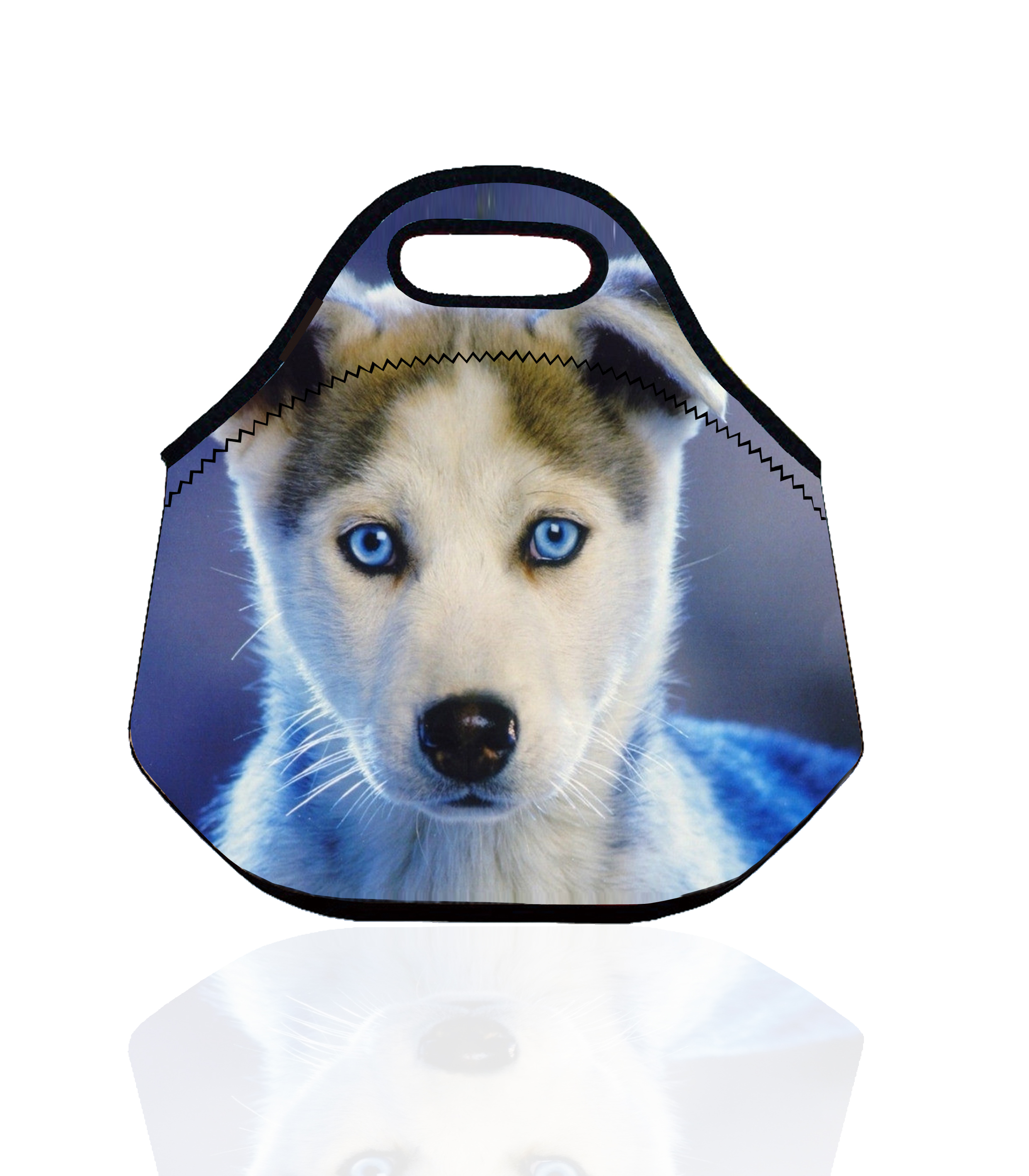 Dog with Blue Eye Portable Insulated Storage Bag Thermal Food Picnic Lunch Bags for Women kids Men Lunch Box Tote bolsa termica