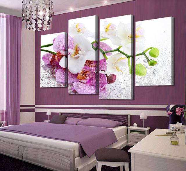 4 piece canvas art new decorations feo home pink phalaenopsis 4 piece canvas art new decorations feo home pink phalaenopsis butterfly orchid flower canvas wall art mightylinksfo Image collections