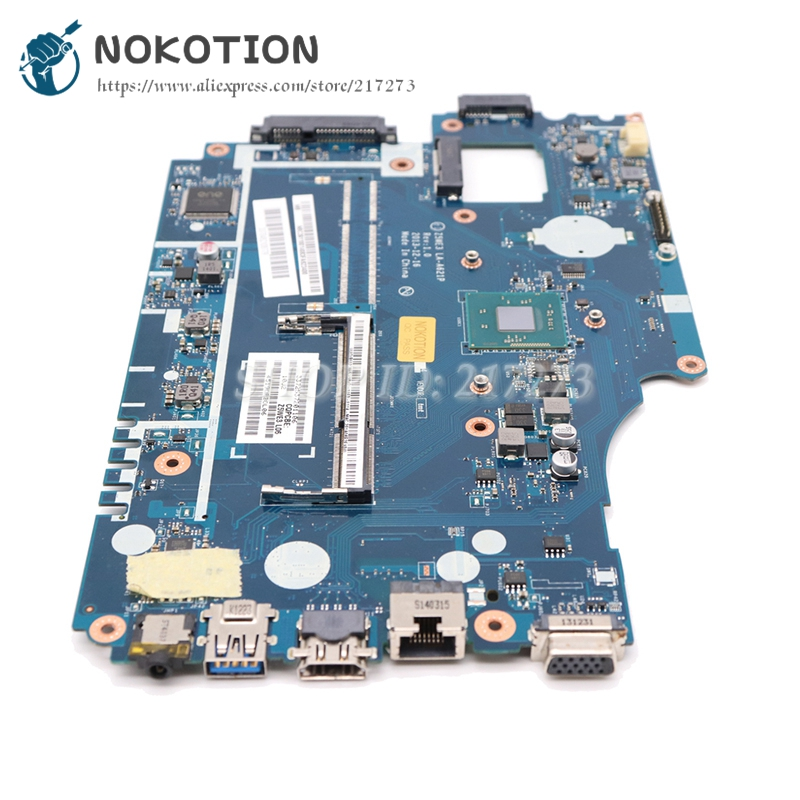 NOKOTION Z5WE3 LA-A621P NBY4711002 PC Main Board For Acer Aspire E1-510 E1-510-2500 Laptop Motherboard Logic Board N2820 CPU