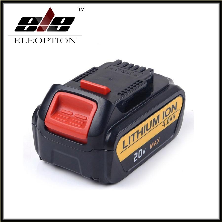 Eleoption 20V 4000mAh 4 0Ah Li ion Power Tools Battery Replacement Cordless For Dewalt DCB181 DCB182