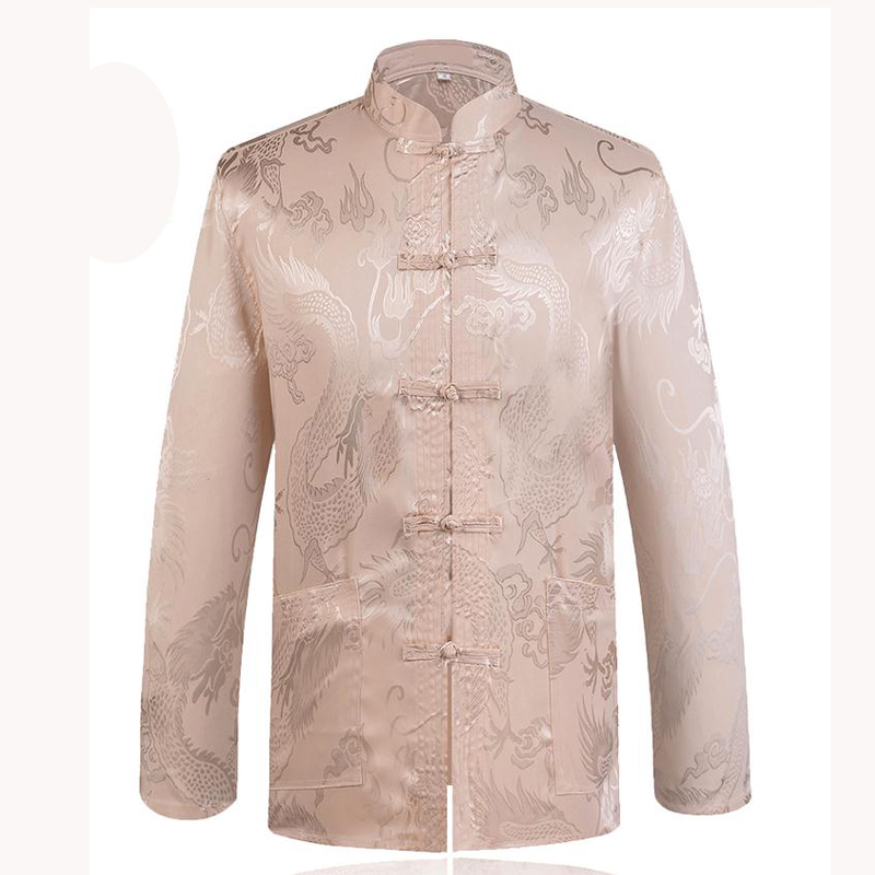 Image 4 - Brand New Arrival Chinese Traditional Mens Satin Mandarin Collar Dragon Silk Tang Suit Clothing Kung Fu Jacket Coat YZT1205traditional menmandarin collarchinese traditional men -