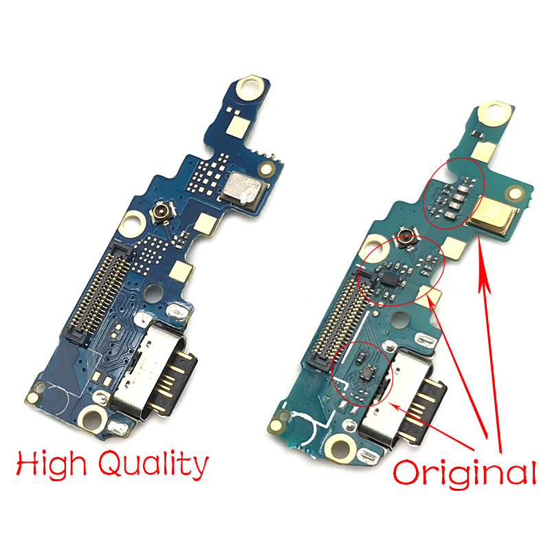 1Pcs For NOKIA X6 6.1 Plus USB Power Charge Charging Port Dock Connector Microphone Board Flex Cable Replacement