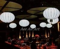 Светодиодное освещение надувные китайский Фонари мяч для украшения партии, гигантские висит LED надувной мяч для ресторана