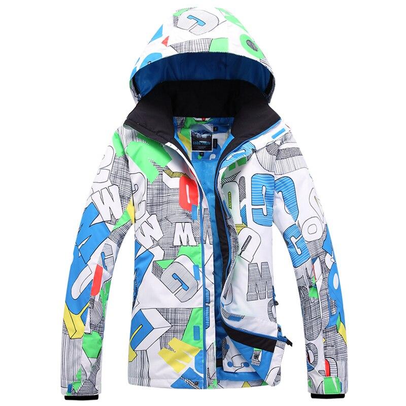 Prix pour Gsou snow Hommes de Veste de Ski Snowboard Ski Manteau sports de Plein Air camping usure thermique coupe-vent imperméable respirant Chaud vêtements