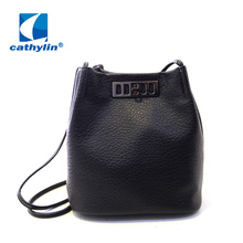 Euro-American style High Quality Fashion 4 Colors Vintage Tassels Hobo Bucket Shoulder Cross Matte PU Leather Body Bags