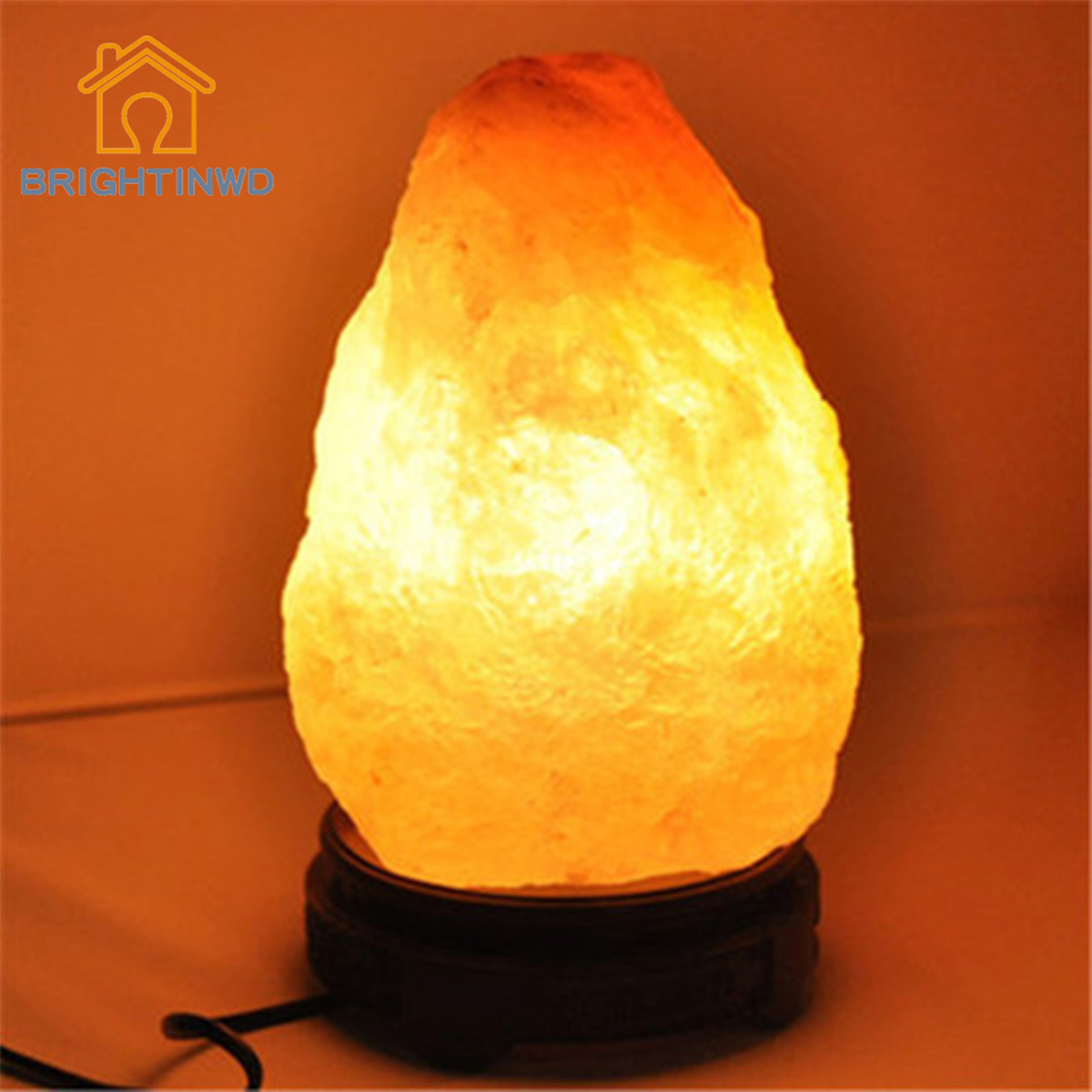 Himalayan Salt Night Light Crystal Salt Lamp Gift Lamp Colorful Ambient Night Light USB BRIGHTINWD