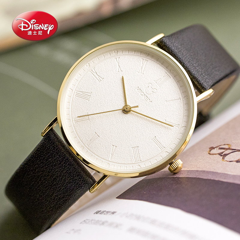 Disney Fashion Casual Womens Watch Luxury High Quality Leather Ladies Watches Waterproof Quartz Wrist Watches Women Montre Femme fashion casual watch women waterproof quartz analog high quality leather wrist watches camellia rose flower women s watches