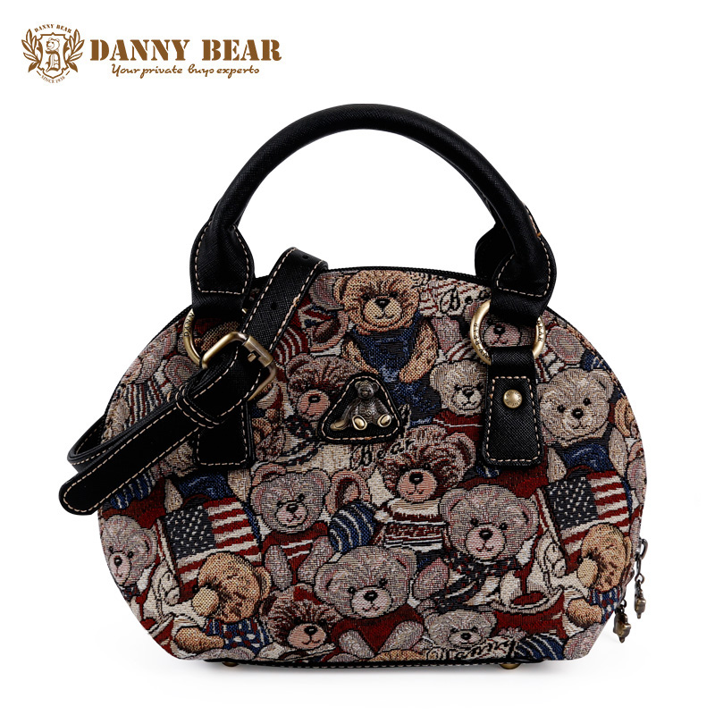 DANNY BEAR Women Small Handbag Teenager Girls Fashion Crossbody Bag Cute Mini Tote Vintage Shoulder Messenger Bags For Female 2017 fashion all match retro split leather women bag top grade small shoulder bags multilayer mini chain women messenger bags