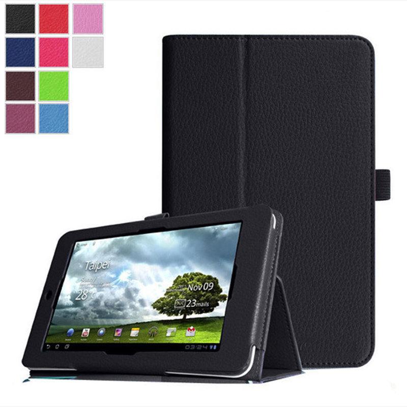 PU Leather Tablet Case Cover For Asus Memo Pad HD7 ME173 Me173X 7.0 inch Protective Stand Flip Cover For Asus ME173X protective pu flip open case w stand stylus pen for asus transformer pad tf303cl white