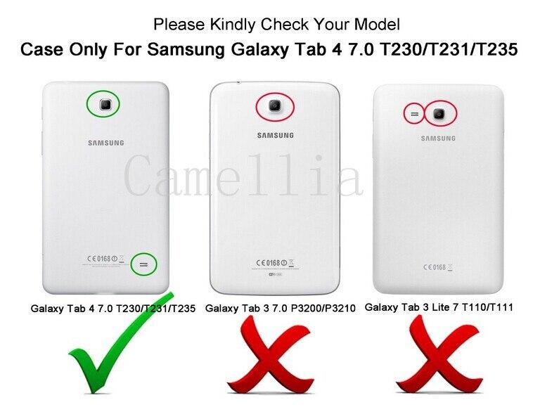 Samsung Galaxy Tab4 7.0 үшін CucKooDo '' T230 / T231 / T235 - Планшеттік керек-жарақтар - фото 3
