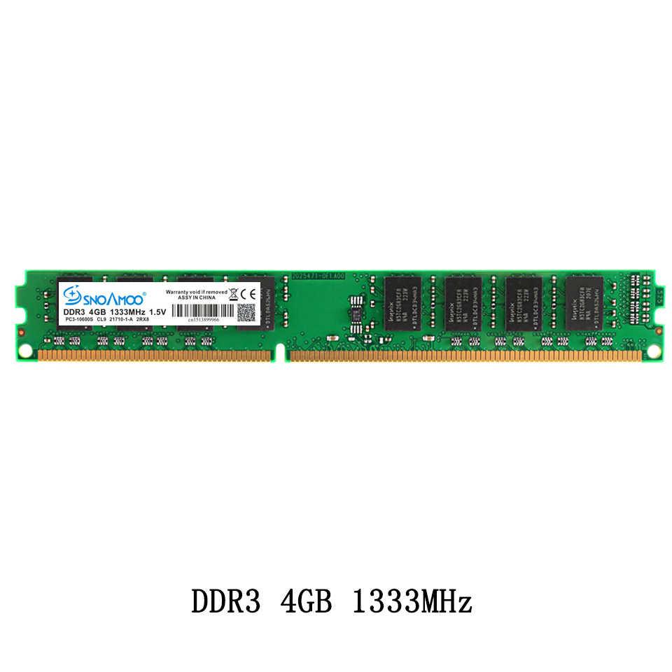 Настольный ПК SNOAMOO, ОЗУ DDR3 4 Гб, 1333 МГц, 240 pin, PC3-10600S, 2 ГБ, 8 ГБ, для Intel ARM DIMM, память компьютера, пожизненная Гарантия