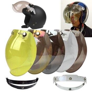 Visera de burbuja casco de motocicleta EVO, Jet Retro, Vintage
