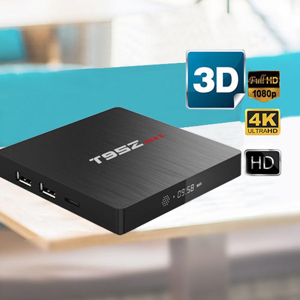HOT T95ZMAX 2 + 16G/3 + 32G Quad Core HD 4 K WiFi Smart TV décodeur pour Android 7.1
