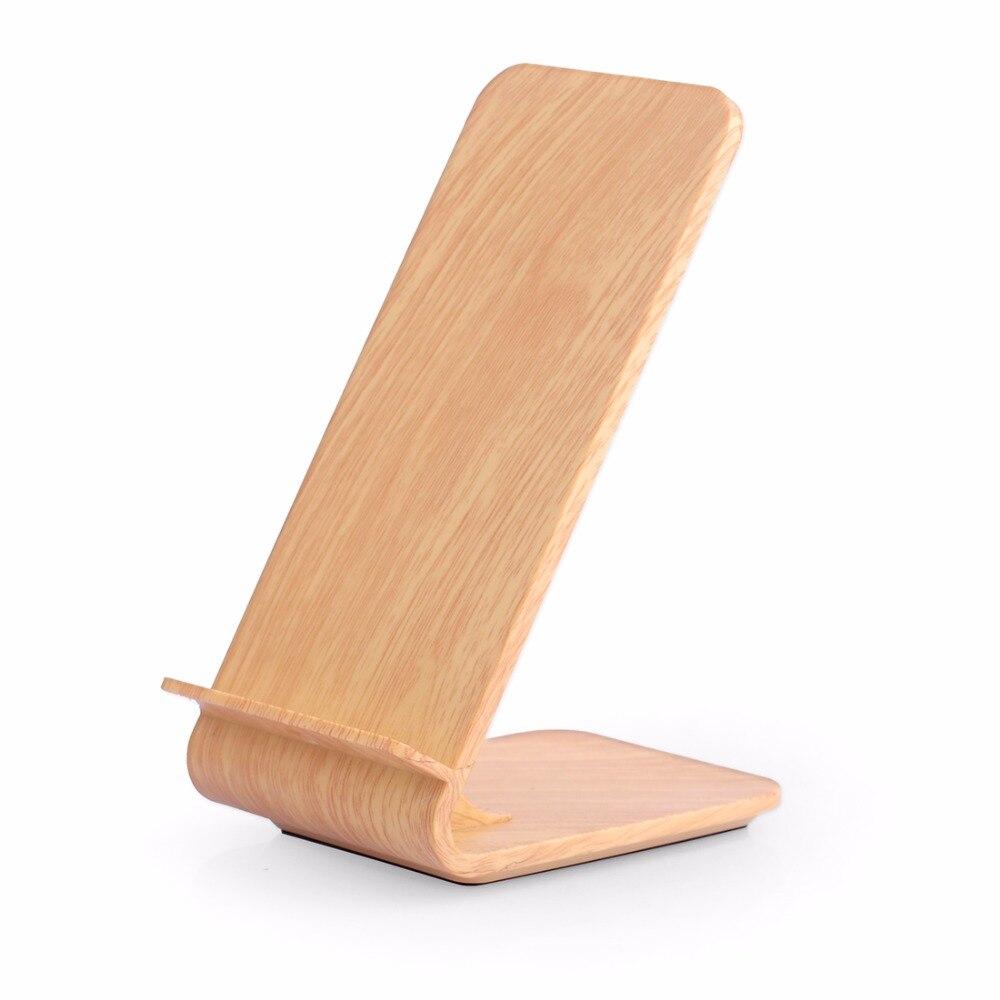 Cargador inalámbrico Wood Grain Fast, soporte de carga inalámbrico - Accesorios y repuestos para celulares - foto 3