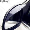 Espejo Retrovisor del coche de Lluvia Hojas de nuevo espejo ceja cubierta para la lluvia ford focus 2 3 Hyundai solaris Mazda 2 3 CX-5 6 2 Unids