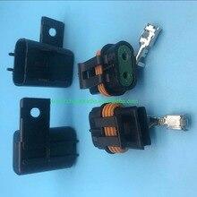 5 шт. 2 Pin для Женский Изолированные коннекторы для встроенного предохранителя проводки автомобильный разъем 12033769 12033731