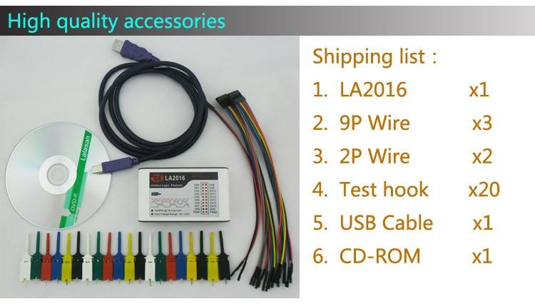 """""""Kingst LA2016 USB Logic Analyzer"""" maksimalus 200M atrankos - Matavimo prietaisai - Nuotrauka 5"""