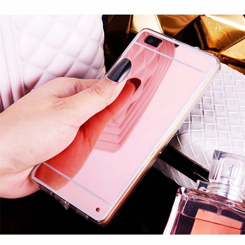 Mirror TPU Case For Huawei P8 P9 P10 Lite Plus Back Cover For Huawei P20 Lite Pro Plus Nova 3e coque For Huawei P8 Lite 2017 P20