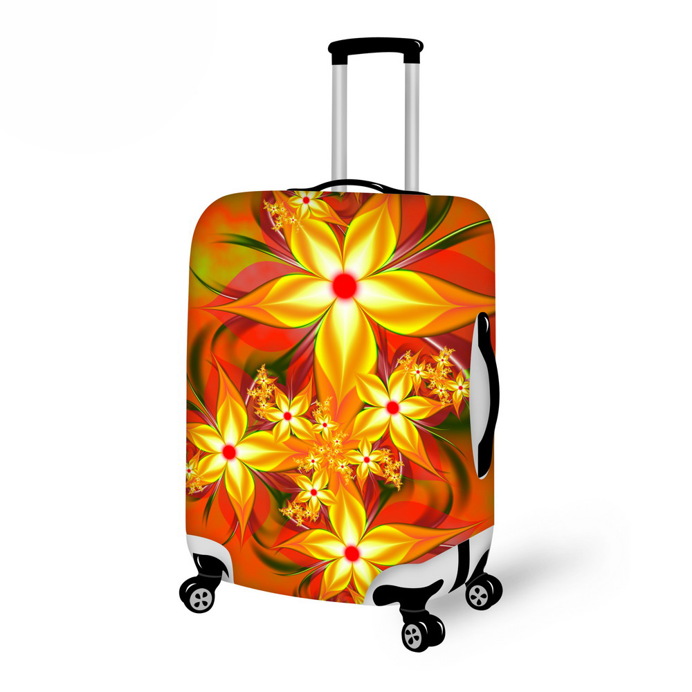 Beautiful Flower Print Washable Luggage Cover Dust Suitcase Cover For Polyester  Travel Luggage 18-30 Inch