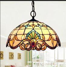 Tiffany Bunte Glas Pendelleuchte Fashion Romantische Beleuchtung Bar Wohnzimmer Dekorationen Restaurant Pendelleuchten ZAG
