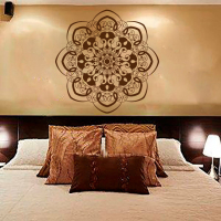 Wall Decal Mandala Sticker Yoga Lotus Flower Indian Art Bedroom Dorm Yoga Studio Bohemian Home Decor
