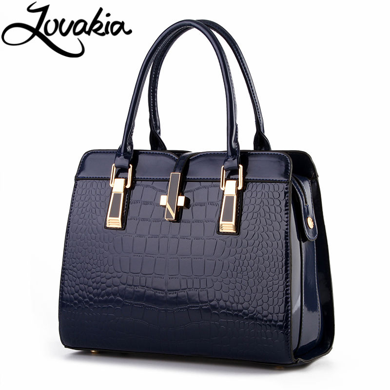 LOVAKIA europe women leather handbags PU handbag leather women bag patent handbag famous brand ladies messenger bag sac patent leather handbag shoulder bag for women