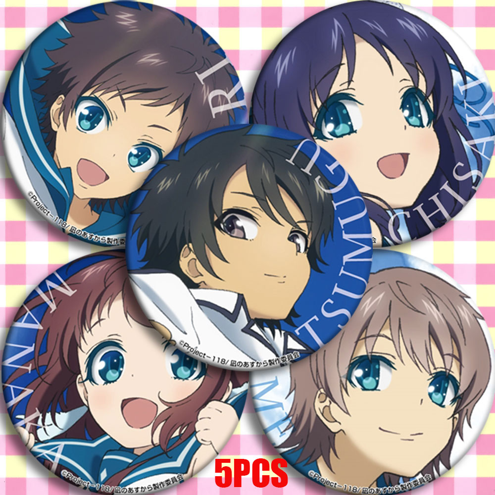 Anime Nagi-Asu: A Lull In The Sea Nagi No Asukara Hikari Sakishima Cosplay Bedge Cartoon Collection Bag Badges Button Brooch Pin