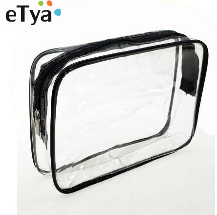 ETya Transparent Cosmetic Bag Women Travel Waterproof  PVC Makeup Bag Toiletry Bags Makeup Organizer Case Pouch