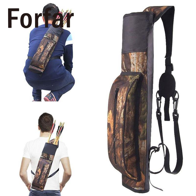 Sports Archery Arrow Carriers For Quick Hunting Shooting Sling Zipper Adjustable Universal Bag Case