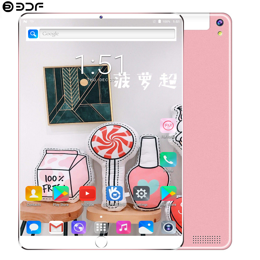 2019 New 10.1 Tablet Pc Android 7.0 Support Google Play 3G Call Octa Core 1.5GHz 4GB/64GB Wi-Fi Bluetooth Super Eetal Tablet Pc