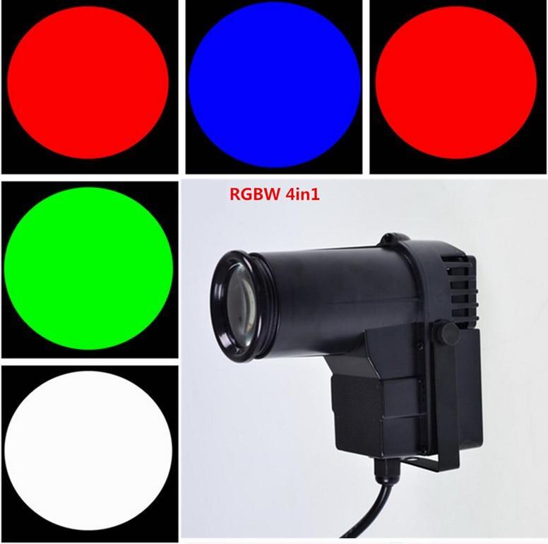 LED CREE 10W  RGBW 4in1 DJ Stage Spot Effect LedQuad  Pinspot DMX 512 Control Mini Spotlight Discos Party Club Pinspot