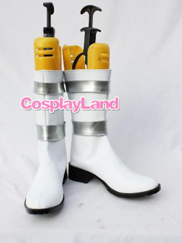Gundam Seed White and Silver Cosplay Boots Shoes Anime Party Cosplay Boots Custom Made for Adult Women Shoes