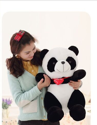 The lovely panda toys sitting panda plush doll with red heart soft toy birthday gift about 65cm big lovely stuffed panda toy plush sitting panda doll birthday gift about 70cm