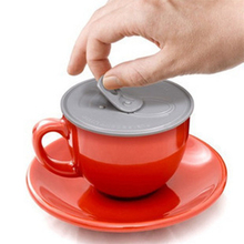 Easy pulled Silicone Cup Lid Keep your stuff hot and fresh Novelty Anti dust leak proof