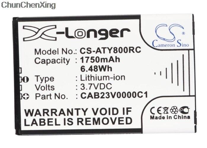 Аккумулятор Cameron Sino 1750 мАч CAB23V0000C1 для Alcatel One Touch Link Y580, Y800, Y800Z, Y580, Y580D