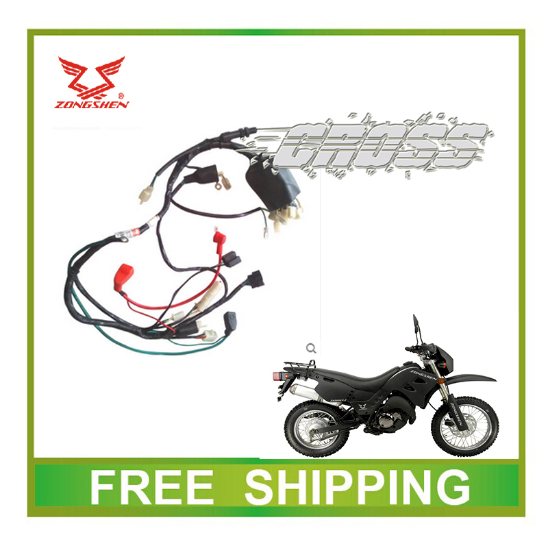 Zs200gy-2 LZX200GY-2 200CC dirt bike toda cable eléctrico de alambre motorcycle