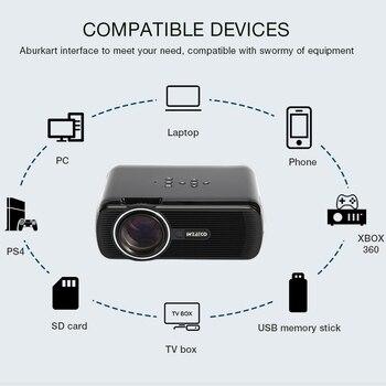 светодиодные прожекторы   WZATCO CTL80 светодиодный ТВ-пректор Обновление Android 7,1 Wifi портативный проектор с ЖК-дисплеем 2200 люмен 3D домашний кинотеатр Full HD 1080 P 4 K Beamer