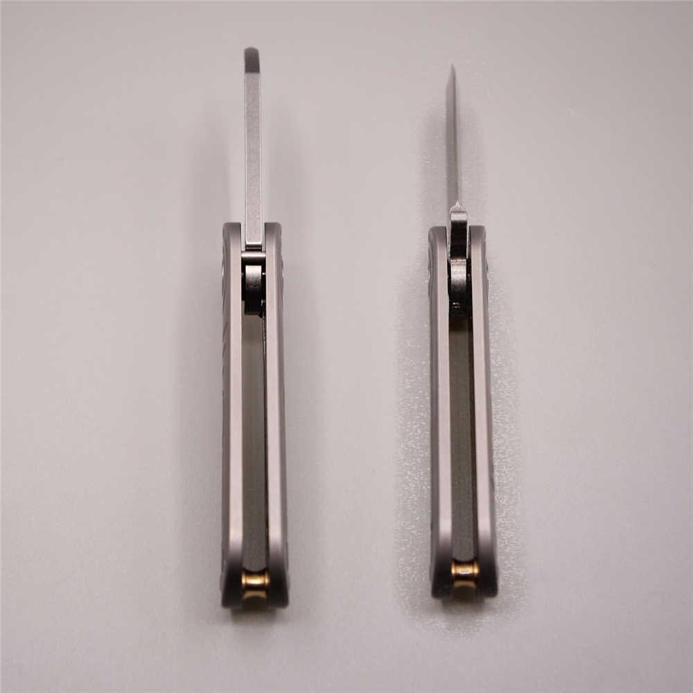 Ecg سكين التكتيكي ضوء سريع فليب للطي جيب شفرة التيتانيوم s35vn v 60 hrc outdoor السكاكين التخييم بقاء سكين التكتيكي