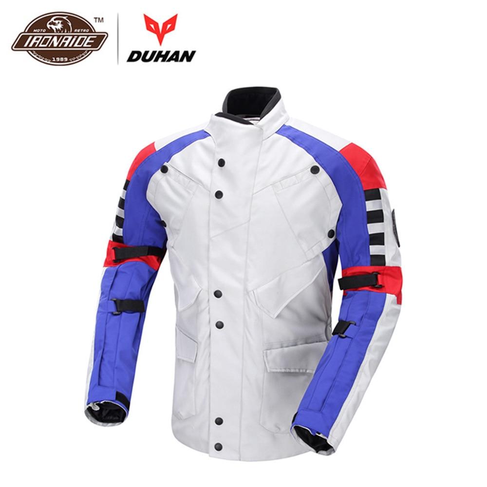 DUHAN coupe-vent moto veste tout-terrain course veste de protection moto Anti automne veste d'équitation moteur protecteur veste