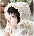 Рождественский подарок симпатичные 100% хлопка шляпа солнца babygirl шапки новорожденный фотографии реквизит babyboy принцесса кружева шляпа и крышка оптовая продажа