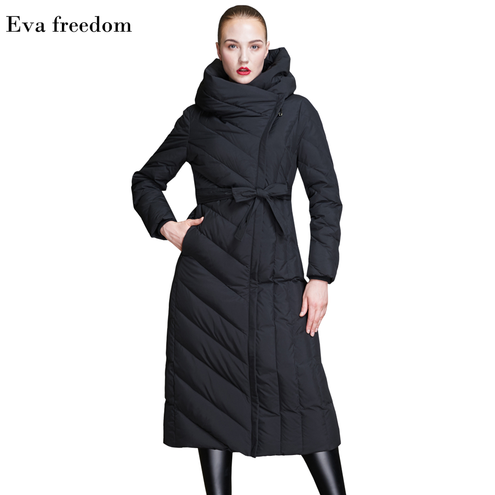b0440d006aa Winter High-end Brand New 2018 Women's Long Slim Thick White Duck Down  Jacket Coat