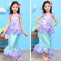 2017 Del Verano Del Bebé Vestidos de Princesa Cosplay Vestido de Sirena del Partido Muchachas Del Niño Vestido Hallloween Traje de la Navidad de Cumpleaños