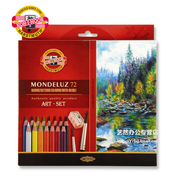 KOH I NOOR brand water soluble color pencils 72 colors/lot