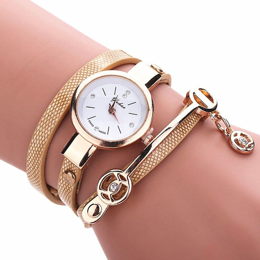 deb5de06d2d Senhoras Relógio Pingente 2017 Moda Relógios para As Mulheres Pulseira De  Couro PU Relógios das Mulheres relogio feminino Montre Femme Saat