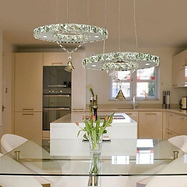 LED Modern Pendant Lights with Remote Controller in Crystal Feature 110-240V edox 80081 37rbrir