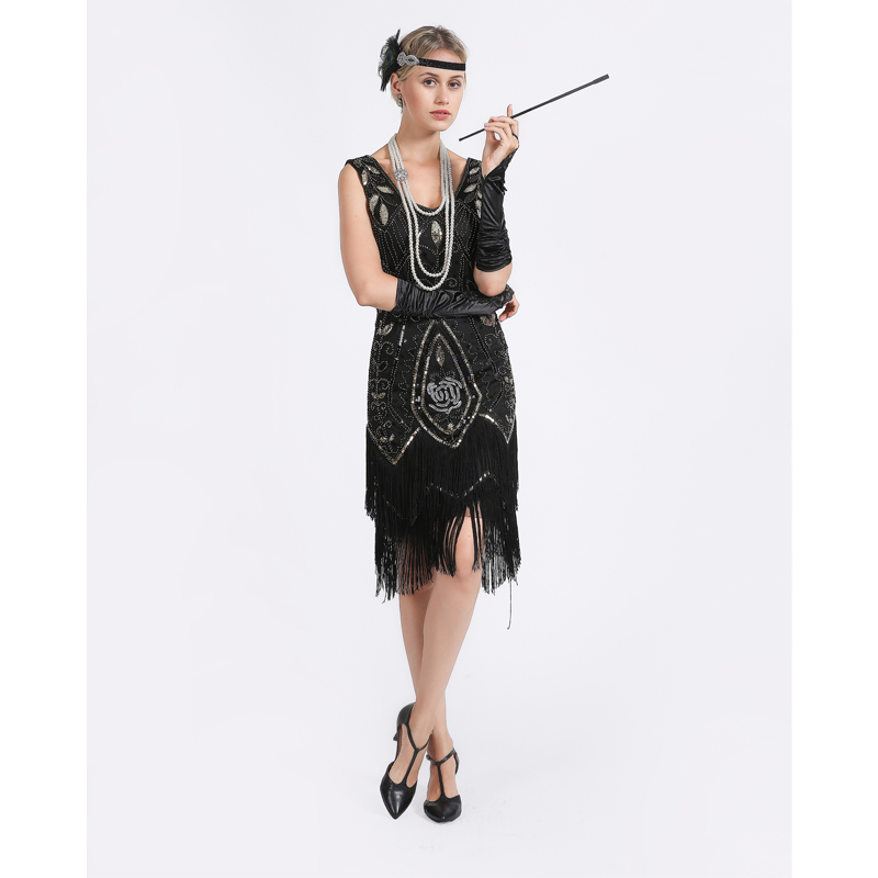 Women 1920s Flapper Dress Gatsby Vintage Plus Size Roaring ...