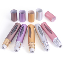 MUB Hot Sale 1 pcs Refillable Portable 10ml Mini Empty Roller Perfume Bottle Travel Scent Pump Roll-On airless pump bottles